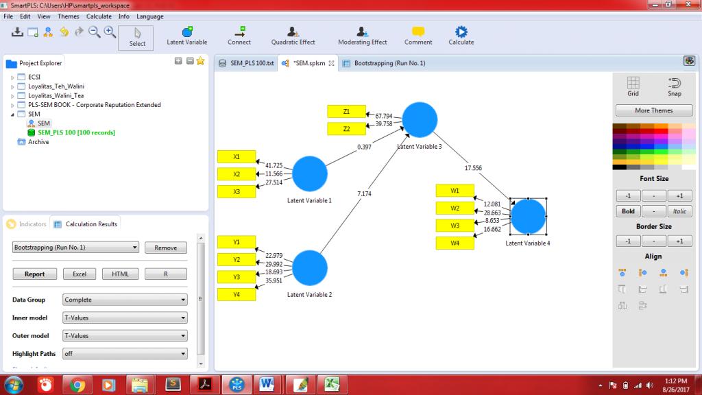Aplikasi sem dengan smartpls 30 mobile statistik output diagram jalur sem oleh smartpls ccuart Images