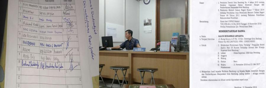 Survey Lapangan Pengurus Koperasi Di Kota Bandung