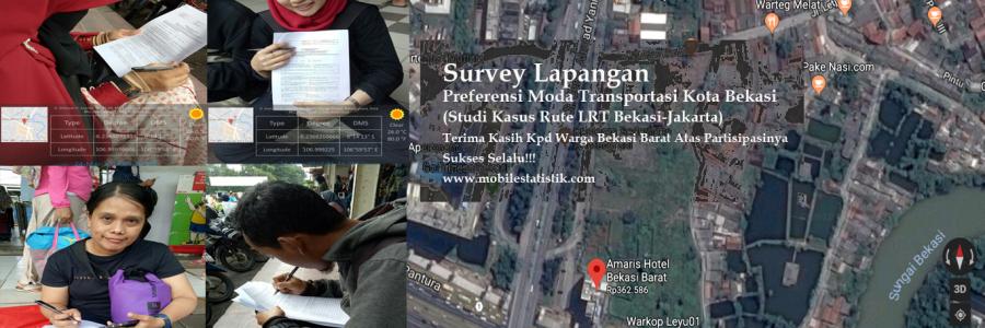 Survey Lapangan Preferensi Moda Transportasi Warga Bekasi Barat, LRT Bekasi-Jakarta