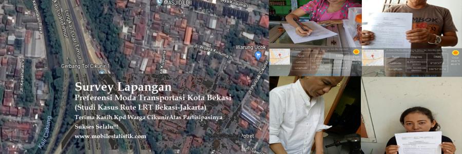 Survey Lapangan Preferensi Moda Transportasi Warga Cikunir 2, LRT Bekasi-Jakarta