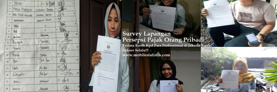 Survey Lapangan Persepsi Pajak Pekerja di Jakarta Barat