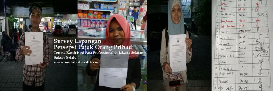 Survey Lapangan Persepsi Pajak Pekerja di Jakarta Selatan