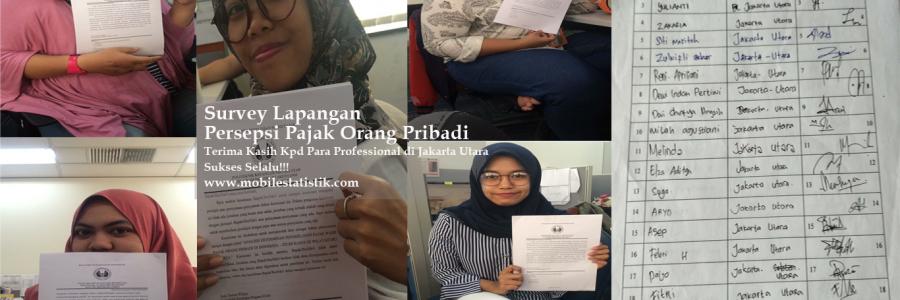 Survey Lapangan Persepsi Pajak Pekerja di Jakarta Utara