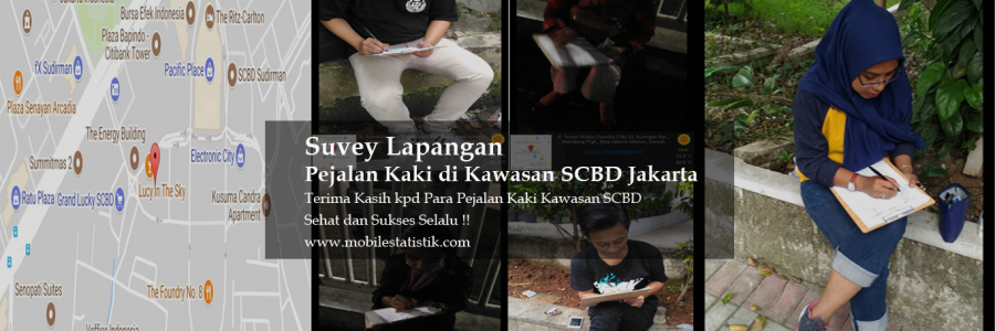 Survey Lapangan Pejalan Kaki di Kawasan SCBD Jakarta