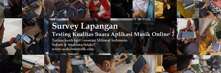 Survey Lapangan Kualitas Suara Aplikasi Musik