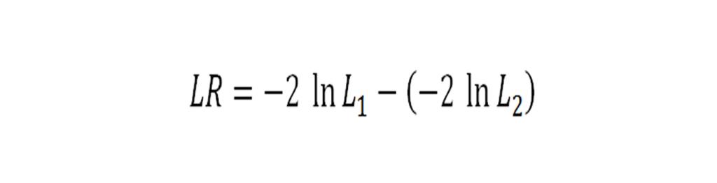 regresi ordinal Likelihood ratio