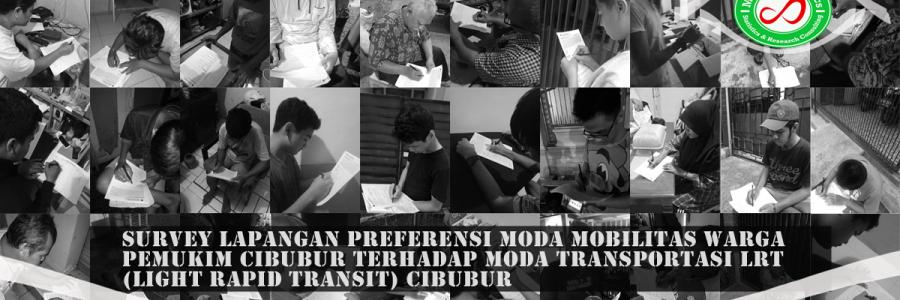 Survey Lapangan Preferensi Moda Transportasi LRT Pemukim Cibubur