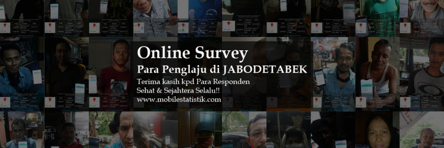 Online Survey Penglaju di Jabodetabek