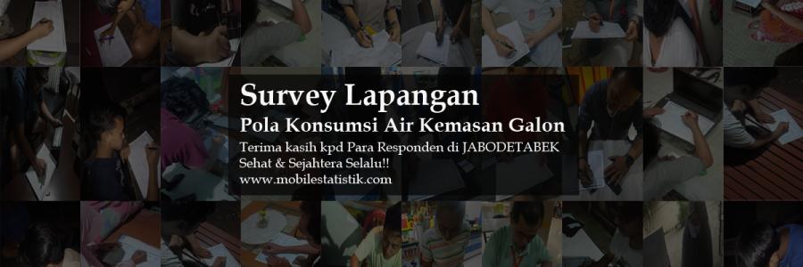 Survey Lapangan Pelanggan Air Kemasan Galon